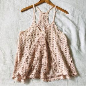 Free People // Knit Open Weave Swing Tank Top